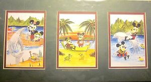 """MAUI MOUSE & MENEHUNE Signed by Dean (1999) Double-Matted Artwork (4.0"""" x 6.0"""")@"""