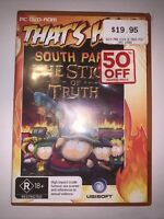 South Park Stick Of Truth PC Game Ubisoft - Mint Condtion - COMPLETE - FREE POST