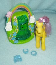 Rare My Little Pony Satin Splash with Waterfall & ALL ORIGINAL ACCESSORIES EUC!
