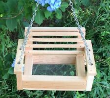 Handmade Cedar Swing  Bird / Squirrel Feeder