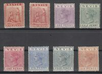C2866/ BRITISH NEVIS – 1867 / 1890 MINT CLASSIC LOT – CV 390 $