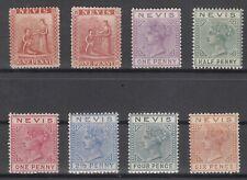C2866/ BRITISH NEVIS – 1867 / 1890 MINT CLASSIC LOT – CV 390 $