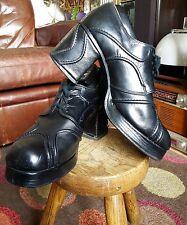 Superb Vintage 70s Platform Shoes Boots.Glam Rock,Slade,Bowie,T'Rex,Disco.Size 7