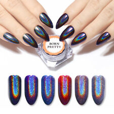 0.5g Holographic Nail Art Glitter Mirror Laser Powder Dust Purple Born Pretty