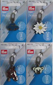 Reißverschlussanhänger, Zipper Pulls, Fashion Zipper, verschiedene bunte Motive