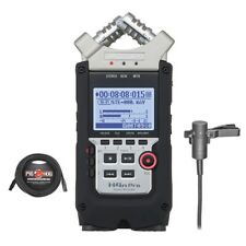 Zoom H4n Pro Handy Recorder with Audio-Technica AT831B Lav Mic + 25 ft XLR Cable