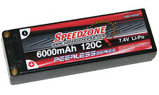Speedzone 6000 mAh 120C Hard Case Lipo 2S 7.4V SCT Touring Hardcase Battery NEW