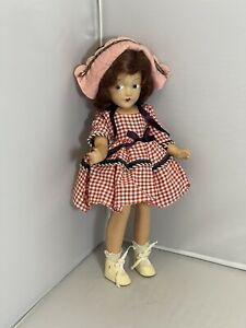 """Vintage Composition Girl Doll Unmarked 11"""" Tall"""