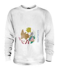 Illinois État Décoloré Drapeau Unisexe Pull Illinoisan T-Shirt Jersey Cadeau