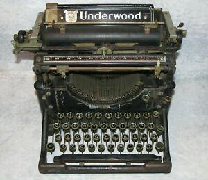 Antique 1918 Underwood No. 5 Typewriter S/N 1065851 - Rare Hemingway Classic
