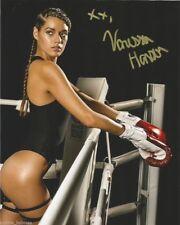 UFC Sexy Ring Girl Vanessa Hanson Autographed Signed 8x10 Photo COA #2