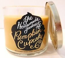 BATH & BODY WORKS PUMPKIN CUPCAKE SCENTED 3 WICK CANDLE 14.5oz NEW!