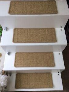 1 Premium Sisal Flat Weave carpet stair pads treads Natural 50cmx20cm