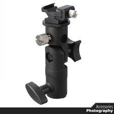 Universal E Type Camera Flash Speedlite Mount Swivel Light Stand Bracket