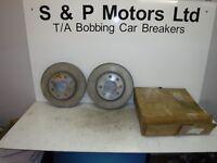 Vauxhall Front Brake Discs Vented Pair Genuine GM 90511111