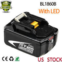 18V 6.0Ah Replace BL1860B battery LXT LITHIUM-ION FOR Makita BL1830B power tools