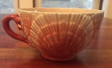Rare Antique Sarreguemines Shell And  Coral Design French Majolica Tea Cup