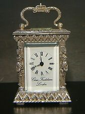 CHARLES FRODSHAM CARRIAGE CLOCK SOLID SILVER