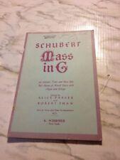Schubert Mass in G Satb Organ and Strings Piano Accompaniment Full Score