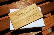 50 Custom Laser Engraved Veneer Wood Business Card