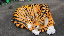 Tiger Figurine with baby lying Life Big Large Garden Sculpture Africa Dekofigur