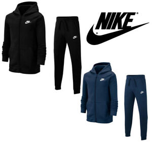 Nike Full Tracksuit 100% Cotton Hoodie Joggers Bottom Regular Fit Sports Gym S-L