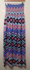 South Petite Strapless Dress Uk 12 Blue Red Black Used Size 12