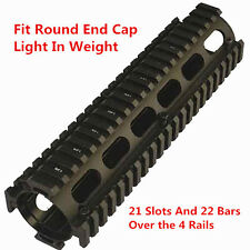 "223 556 9"" Mid Length Two Piece Drop In Quad Rail Handguard Fit Round End Cap"