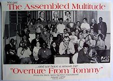the who Assembled Multitude 1970 Poster Ad Overture From Tommy