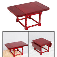 1/12 Dollhouse Wooden Stylish Foldable Table Dining Room Furniture Toys DIY