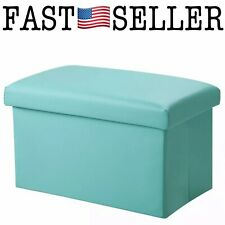 Inoutdoorkit FSL01 Foldable Leather Storage Ottoman Bench Footrest Stool For Kid