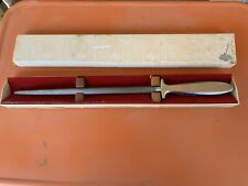 Vintage GERBER GUNGNIR Sharpening Honing Rod in Original Box 17""