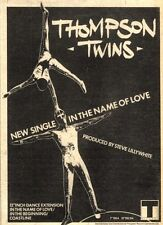 """23/1/82Pgn16 Advert: Thompson Twins Single 'in The Name Of Love' 7""""x5"""""""
