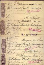 BIRREGURRA: 4  GREAT  OLD CHEQUES DATED 1888+.... CHEAP