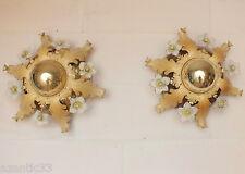 appliques Murano paire lustre années 50/60 métal verre