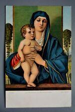 R&L Postcard: La Moadonna col Bambino, Bellini, Stengel