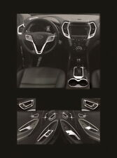 New Chrome Interior Cover Molding 21Pcs C673 For Hyundai 13-16 Santa Fe DM