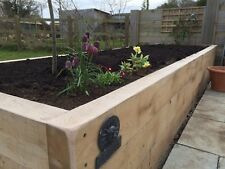 Premium Canadian Oak Railway Sleepers 2.4m x 200mm x 100mm - Fantastic quality!