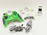 Official Sega Dreamcast Controller & Mad Catz Controller w/ Dreamcast VMU Works