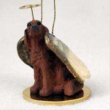 Irish Setter Dog ANGEL Tiny One Ornament Figurine Statue