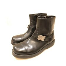 Ralph Lauren Polo Vintage Motorcycle Boots Mens Size 10D Short Leather Black