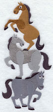 HORSE NEIGH NEIGH STACK SET OF 2 BATH HAND TOWELS EMBROIDERED BY LAURA