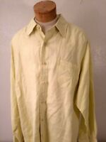TOMMY BAHAMA Mens Size L Long Sleeve Button Shirt Yellow