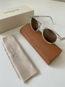 Oliver Peoples Gregory Peck Transparent Clear Brown Lens Sunglasses £410 BNIB