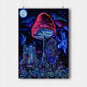 TRIPPY PSYCHEDELIC POSTER HIPPIE FANTASY WALL ART PRINT A3 A4 SIZE