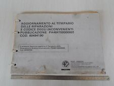 AGGIORNAMENTO AL TEMPARIO DELLE RIPARAZIONI ALFA ROMEO 1993 ALFA 155 164