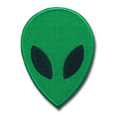 ET Alien Face Patch UFO flying Saucer Roswell Area 51 Retro Applique Iron on