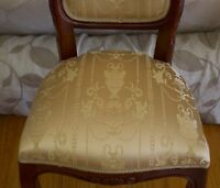 """Jacquard Fabric,  Upholstery and  Drapery,  Color Antique Gold By the Yard, 58"""""""