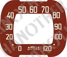 Vintage look Italian Benelli Moto Morini Speedometer Restoration Decal Sticker
