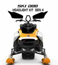 SKI DOO REV GEN 4 X SUMMIT RENEGADE MXZ TNT 850 E HEADLIGHT DECAL STICKER  black